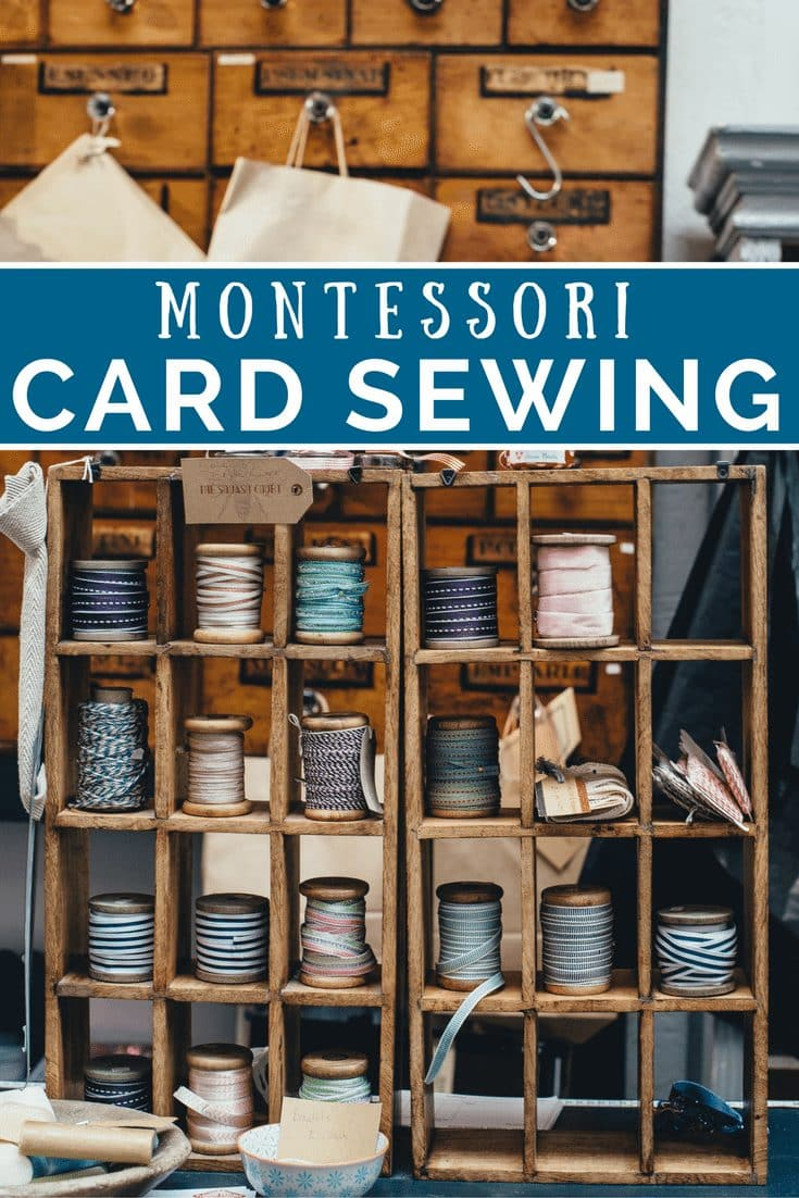 Card Sewing - Montessori Practical Life