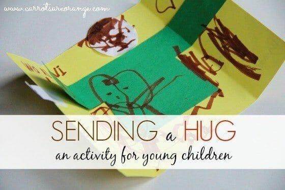 Sending a Hug Craft this Holiday