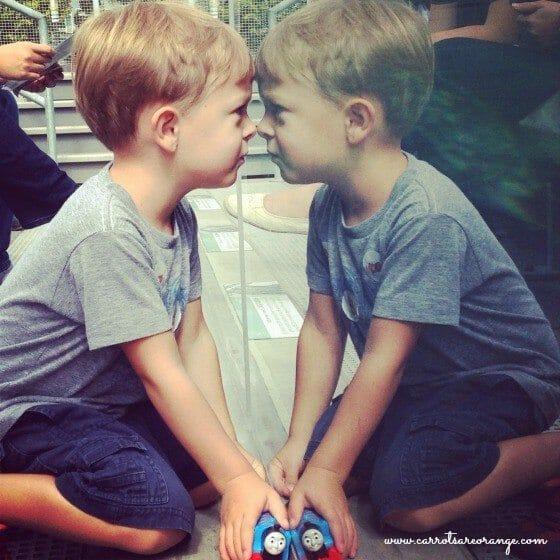 boys reflection