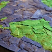 Earth Day Art Activity - Torn Paper Art Collage