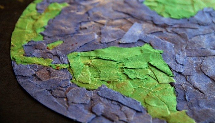 Earth Day Art Activity – Torn Paper Art Collage