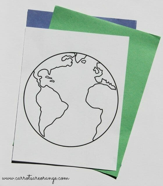 materials for torn paper earth