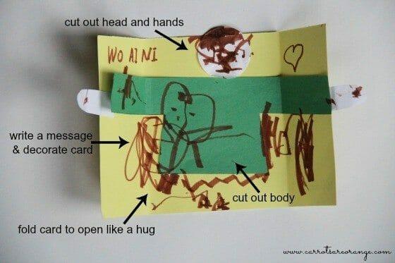 send a hug craft for kids