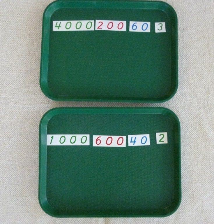 Montessori Math Golden Bead Static Addition