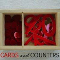 Montessori Math Cards and Counters Lesson