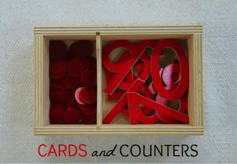 Montessori Math Cards & Counters Lesson