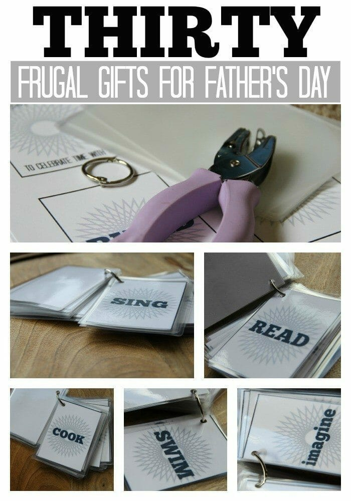 father's day coupon book collage