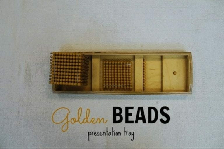 Golden Bead Presentation Tray
