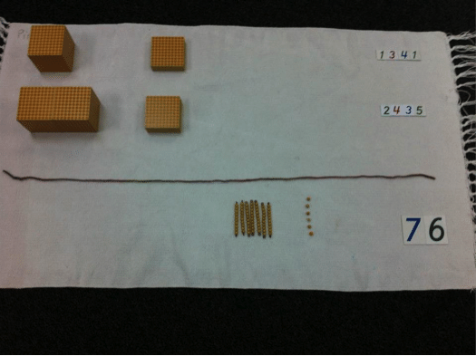 golden bead static addition