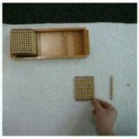 Montessori Math Beads Presentation Tray