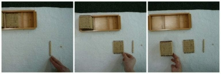golden beads tray sequence
