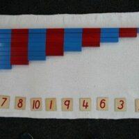 Montessori Math Number Rods & Numerals