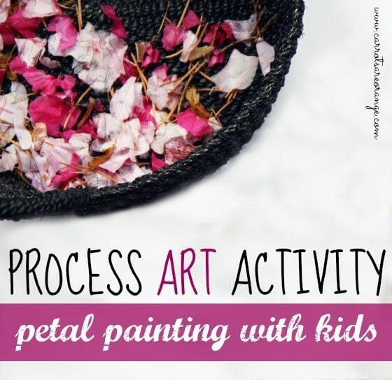 petal painting with kids main