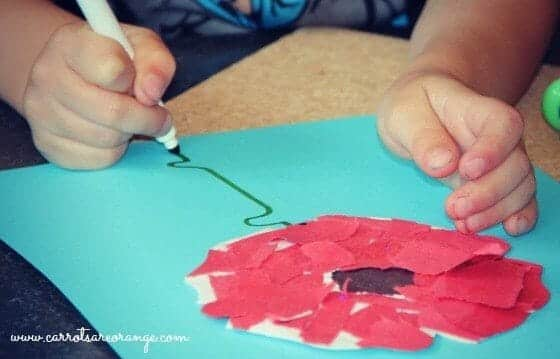 Easy Red Poppy Craft & Other Memorial Day Activities