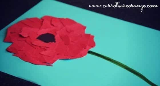 Easy fun red poppy craft other remembrance day activities red poppy craft for kids mightylinksfo Gallery