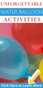 Colorful balloons filled with water