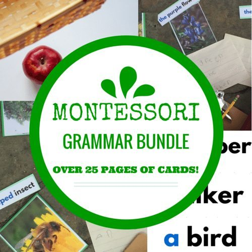 Montessori Grammar Bundle