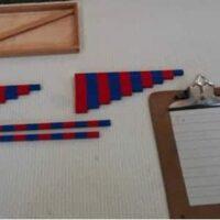 Montessori Math Number Rod Addition