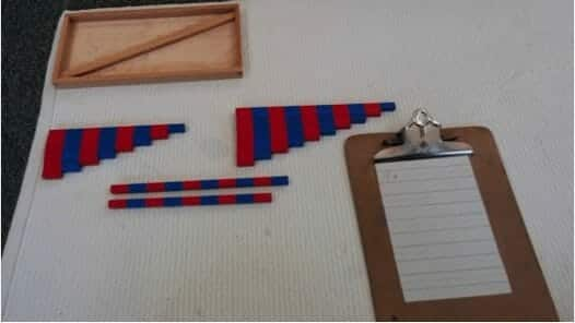 Montessori Math Number Rod Addition