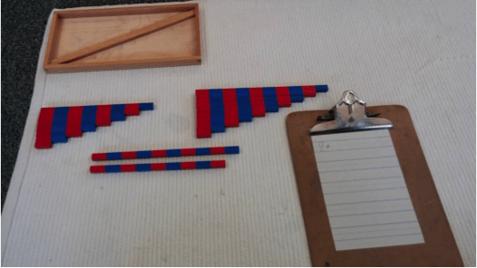 addition with number rods Montessori Math Number Rod Addition