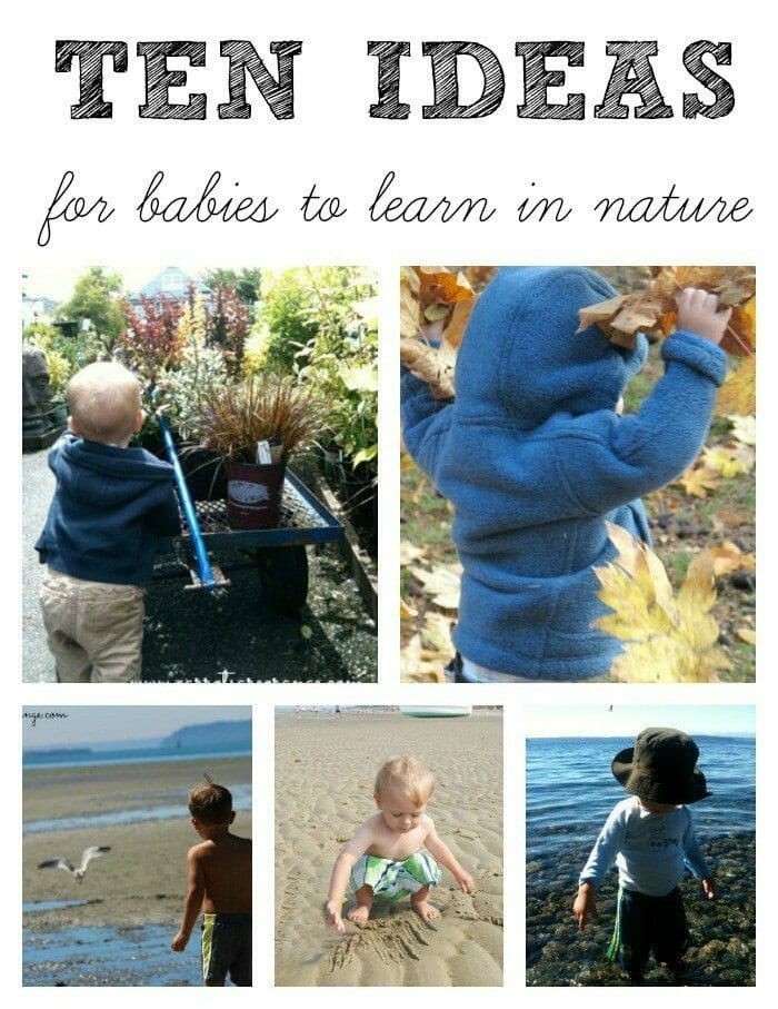 Babies in Nature Collage