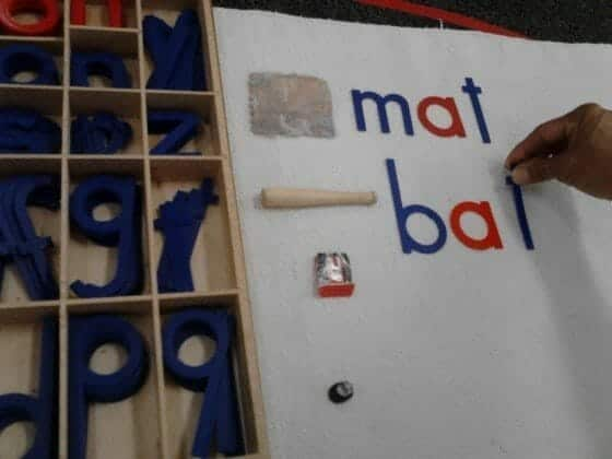 Movable Alphabet with Objects Lesson