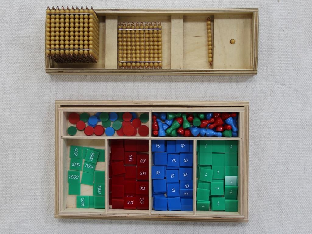 Montessori Stamp Game Lesson Presentation Tray