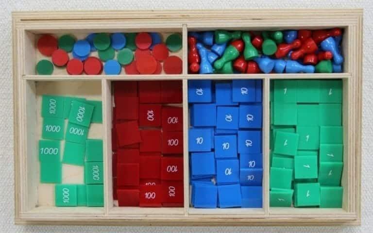 Montessori Stamp Game Lesson