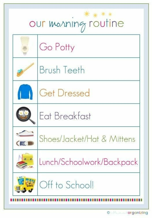12 Brilliant Daily Routine Charts Your Kids Will Love – Daily Routine Chart Template