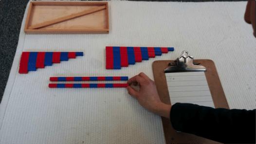 number rod addition 9 bar Montessori Math Number Rod Addition