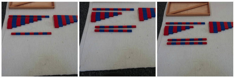 number rod addition sequence Montessori Math Number Rod Addition