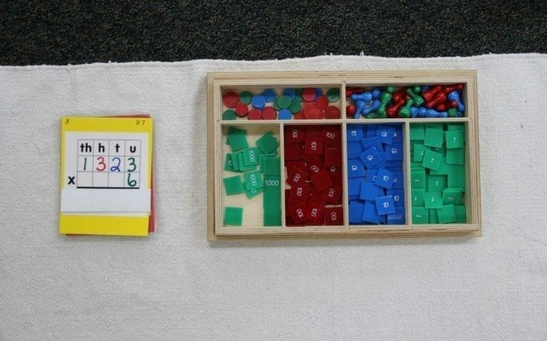 Montessori Math Stamp Game on Bead Montessori Math Worksheet