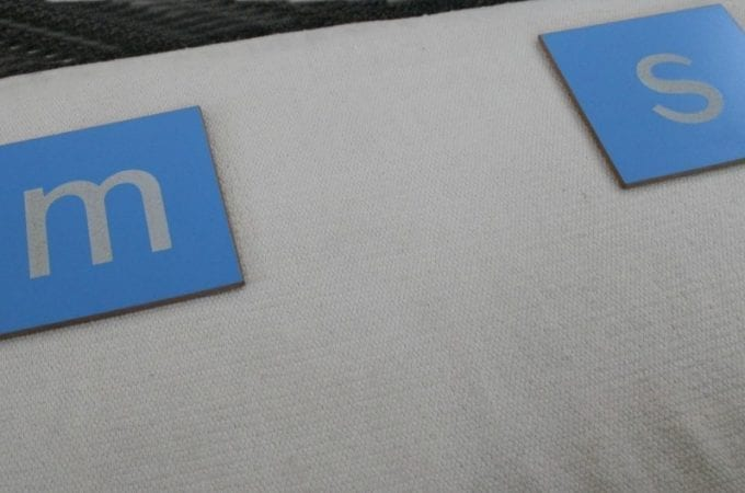 top mat sandpaper letters
