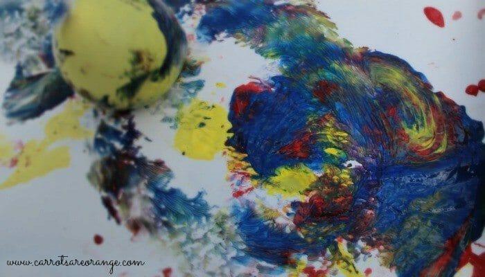 water balloon activities painting