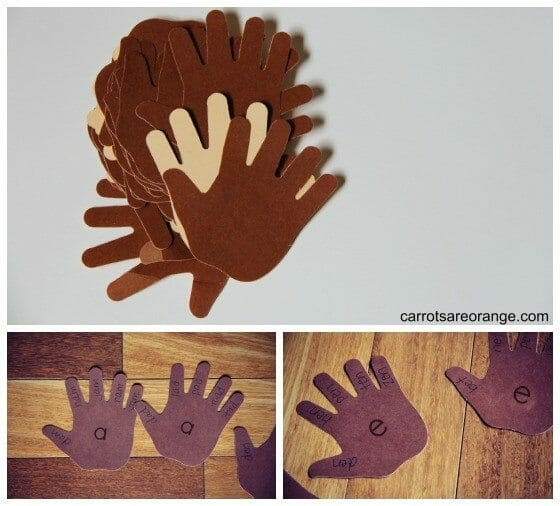 High Five Word Family Activity for Preschoolers