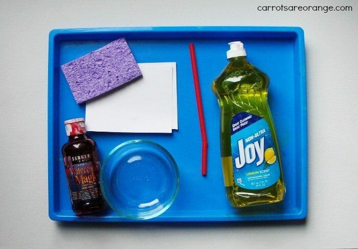 Bubble Painting Materials