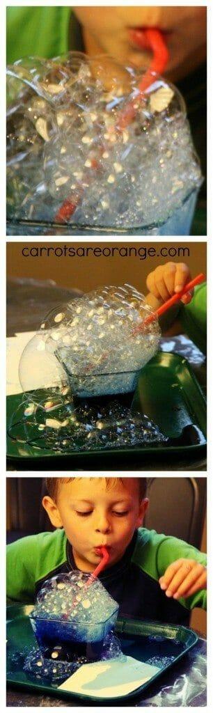 Bubble Painting Process Art