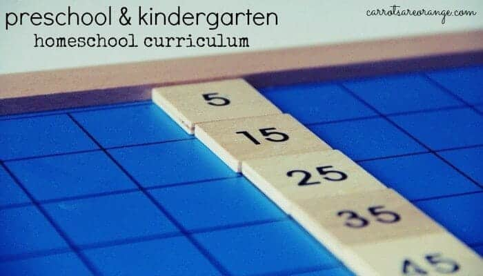 Preschool & Kindergarten Homeschool Curriculum