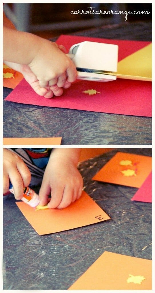 Fine Motor Activity with Leaves
