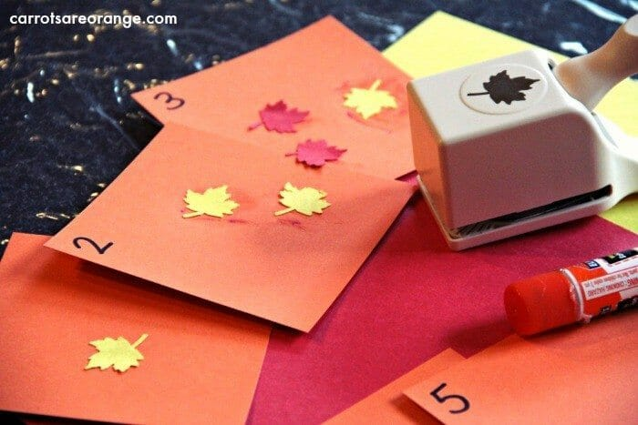 Montessori Math and Fine Motor Activity with Leaves