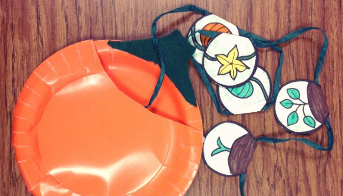The Life Cycle of a Pumpkin – Fall Paper Plate Craft for Kids