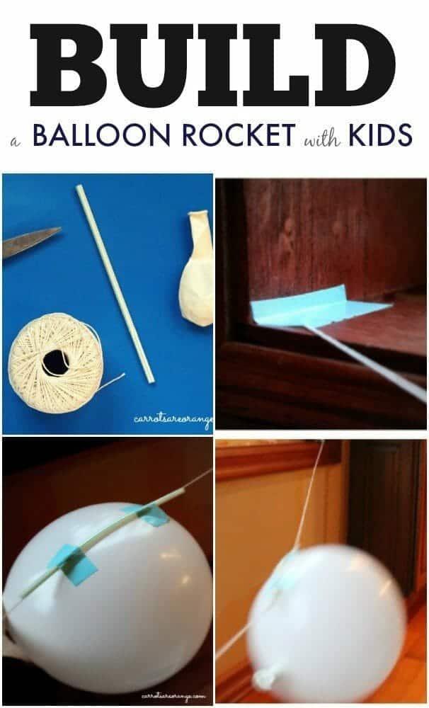 Pinterest Collage Balloon Rocket