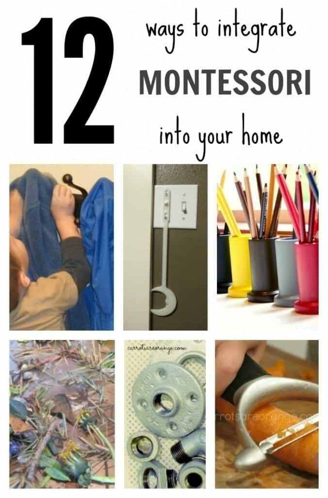 montessori in the home collage 12 Ways to Integrate Montessori into Your Home