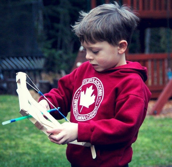 How to Make a Wooden Bow and Arrow with Kids