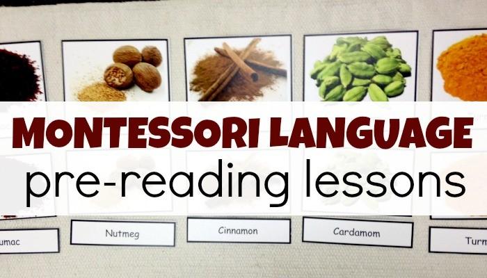 Montessori Language Pre-Reading Lessons