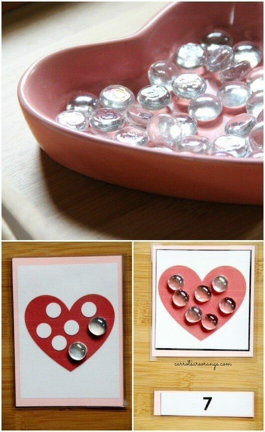 Montessori Valentine Math Tray