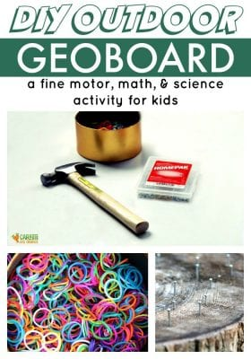 Super easy outdoor DIY Geoboard