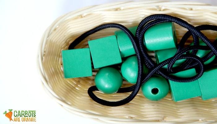Montessori Large Bead Stringing