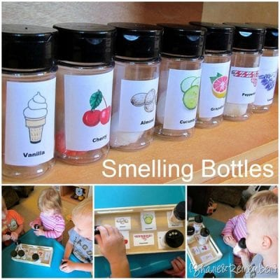 Smelling Bottles with Essential Oils