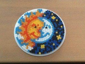 Sun and Moon Perler Bead